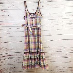 NWOT Anthropologie Odille Plaid Midi Dress